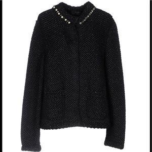 Lanvin Pearl/rhinestones knitted Blk cardigan.NWT